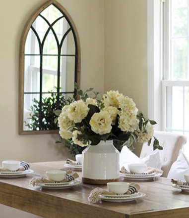 Dining Room with Cathedral Mirror