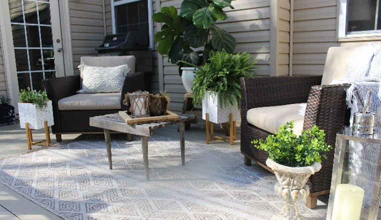 Boho Style Patio Decor