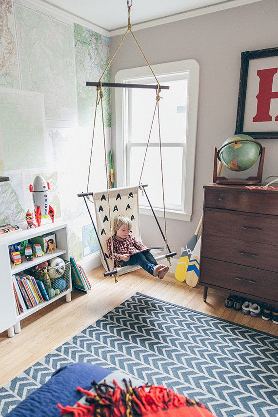 Boys Bedroom with Swing