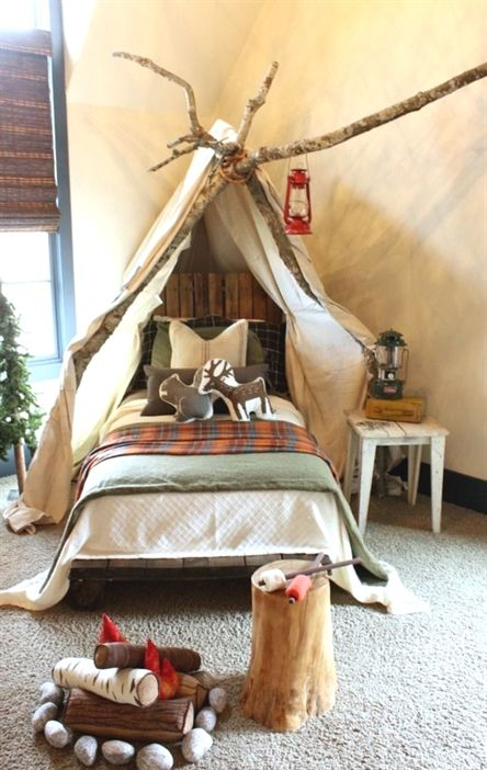 Camping Boys Bedroom Idea