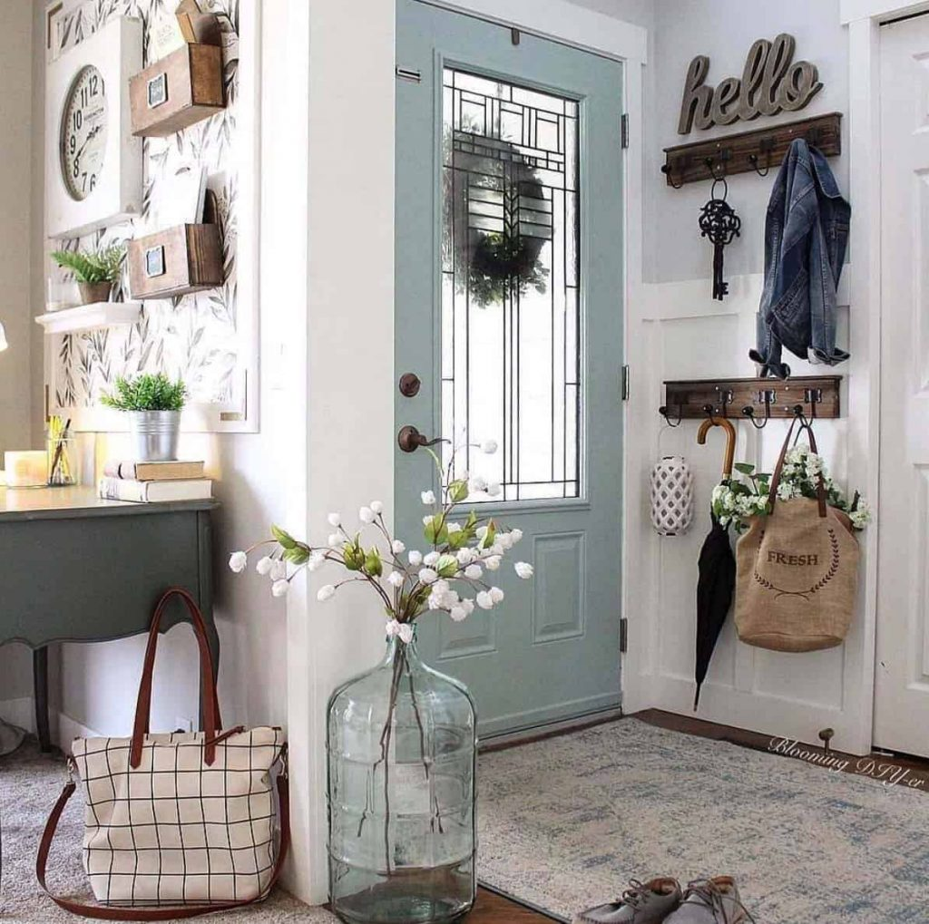 Small space entryway storage solutions