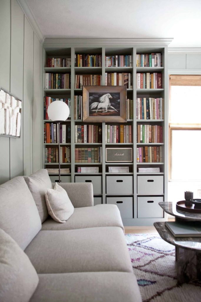 Built-In Living Room Bookcase
