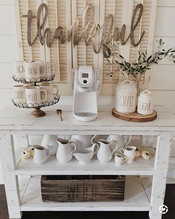 Farmhouse Inspired Coffee Bar