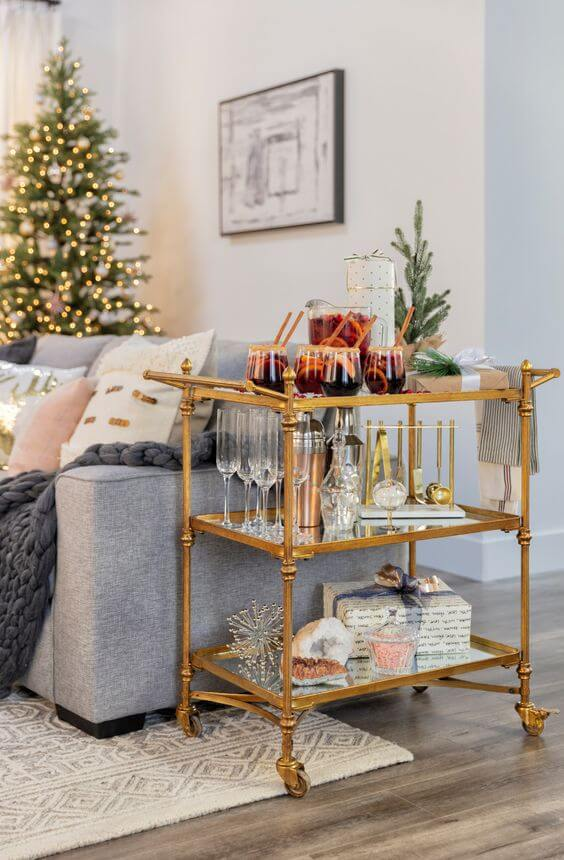decorating-bar-cart-christmas