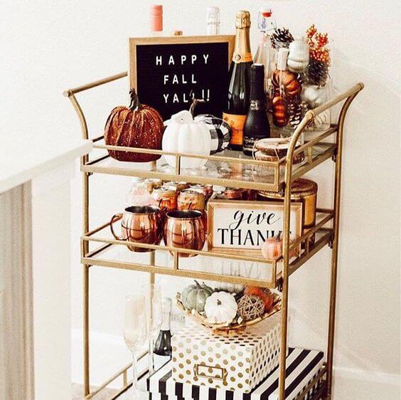 thanksgiving-bar-cart-decor-ideas