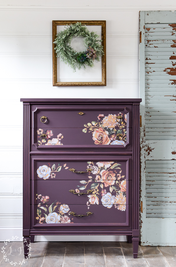 Vintage Inspired Chest with Florals