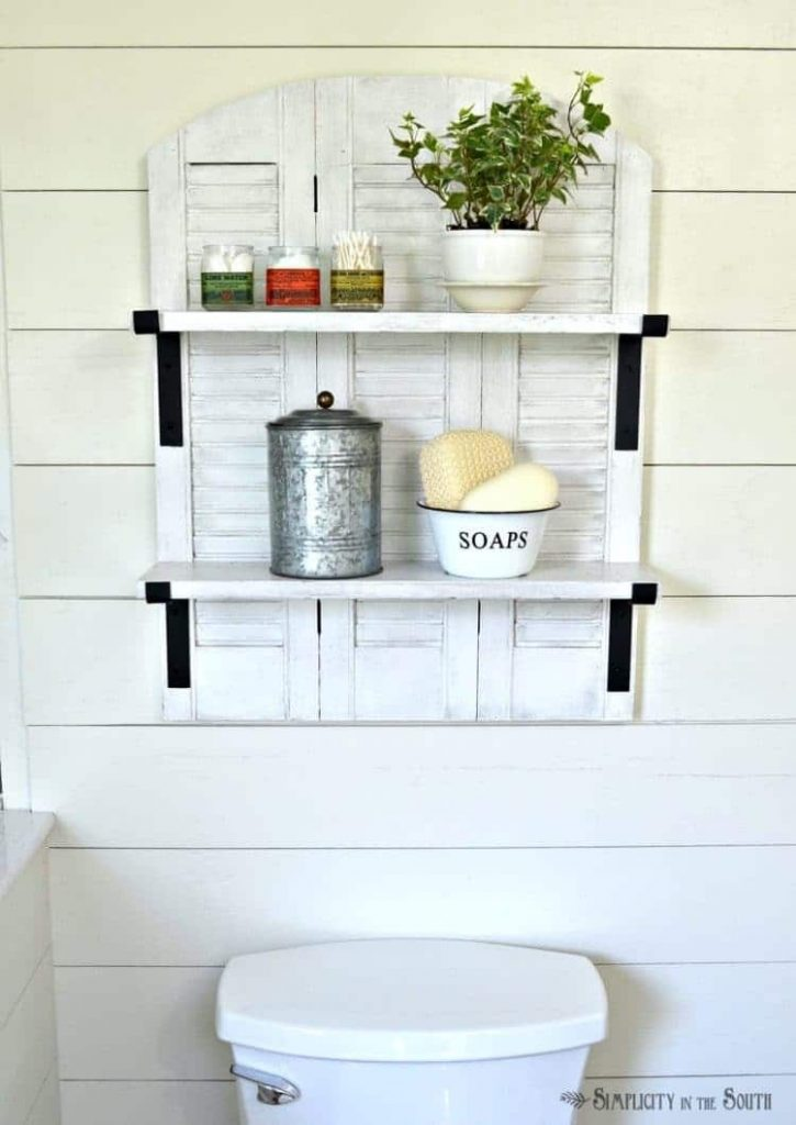 Bathroom Shutter Shelf