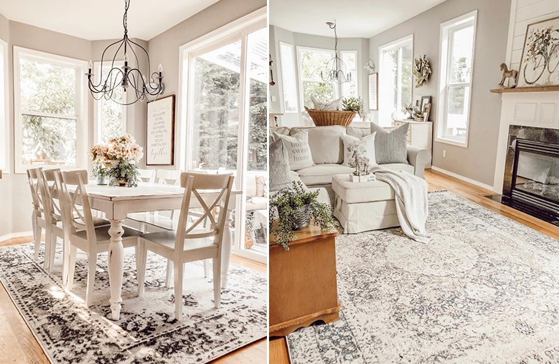 Soft and Neutral Farmhouse Rugs