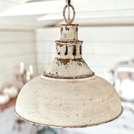 white barn kitchen pendant light