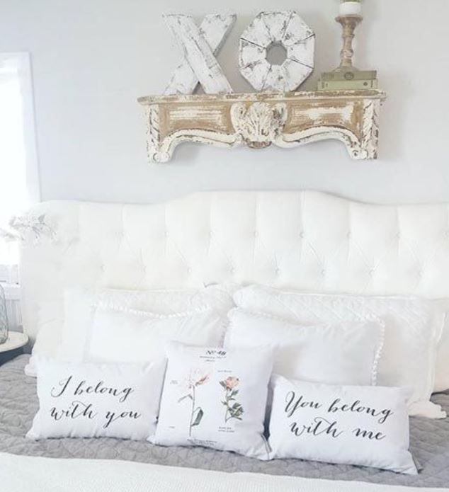 chippy-white-fireplace-shelf-over-bed