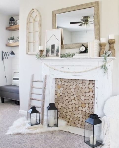 fireplace- shelf-ideas-decor
