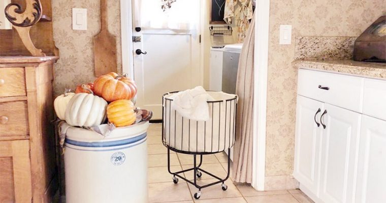 how to store blankets without a closet using a laundry hamper